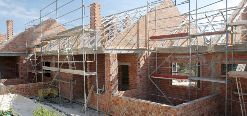 Self-Build Home with scaffolding